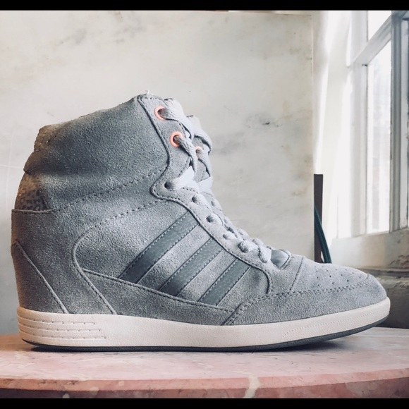 3d39fc1ae8e adidas Shoes - Adidas Super Wedge Suede High-Top Sneakers
